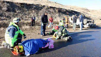 El hielo en la calzada fue el motivo del accidente sobre la Ruta 234.