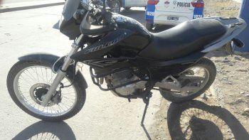 Lo único que la Policía pudo recuperar fue la moto Honda 400 cc.
