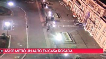 Casa Rosada: echaron a custodios por el loco que entró con su auto