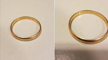 El anillo que encontró Val Jaramillo en el BPN.