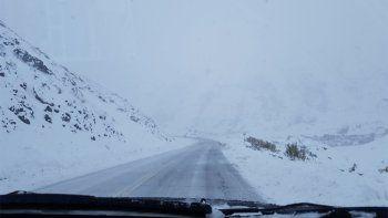 Así estaba el viernes la ruta entre Caviahue y Loncopué