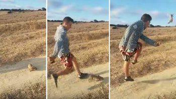 Joven pateó un conejo gritando Cristiano Ronaldo