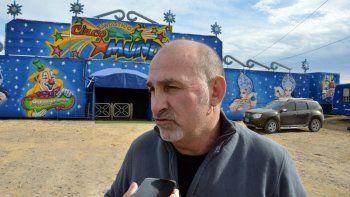 Gustavo Yovanovich, propietario del circo sancionado en Neuquén.