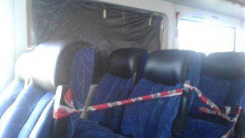de milagro no hubo lesionados: a pedradas rompieron una de las ventanillas del tren