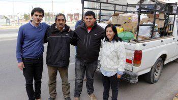 Miembros de la cruzada solidaria impulsada por el Deliberante.
