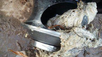 canos tapados: denuncian sabotaje en las cloacas