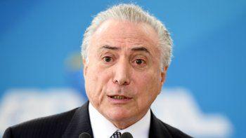 Polémico: el presidente de Brasil busca achicar los gastos del Estado.