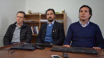 Los fiscales García, Flores y Gerez ayer, durante una reunión de trabajo.