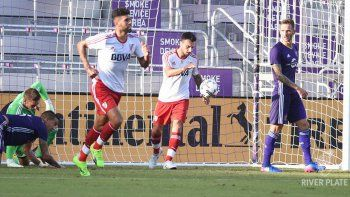river vencio a un equipo b de orlando en un amistoso