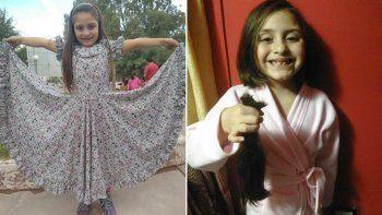 una pequena con un corazon gigante: con 6 anos dono su pelo para enfermos de cancer