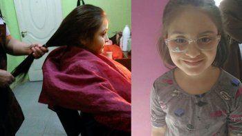 A la niña le llegó al corazón el video de otros niños sin cabello. Preguntó, primero lloró, y enseguida quiso ayudar a las personas en tratamiento.