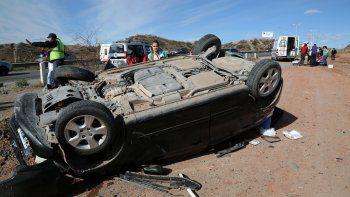 Una mujer resultó herida en un vuelco sobre Ruta 7