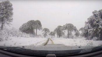 Así se ve el parque Batea Mahuida en pleno invierno