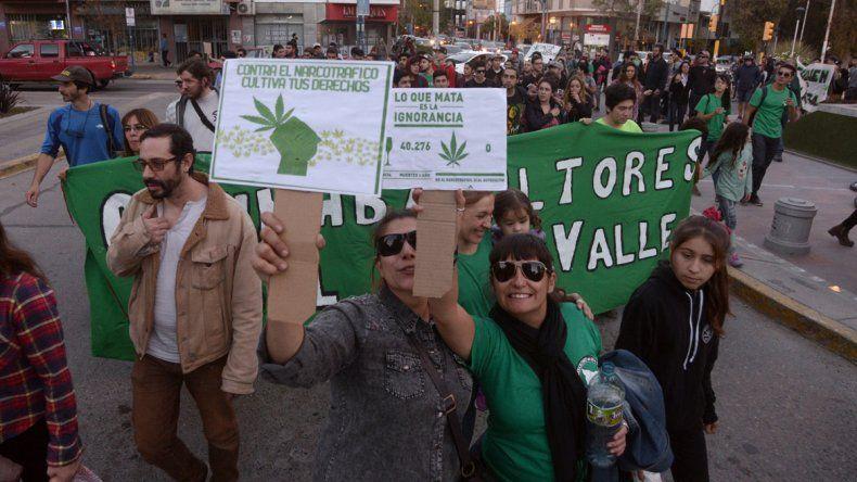 Marchan por la legalización del cultivo de marihuana