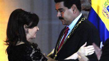 Macri le quitó la Orden de San Martín a Maduro