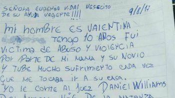 Desesperado pedido de una nena por el maltrato de su madre