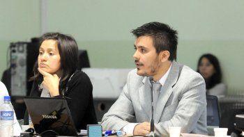 Natalia Hormazabal y Juan Goñi, abogados querellantes de APDH y Ceprodh.
