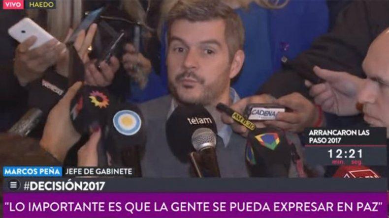 Peña adelantó que a las 21 estarán los primeros resultados