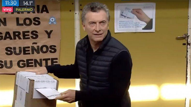 Macri se mostró contentopor las PASO y no se olvidó de Cristina