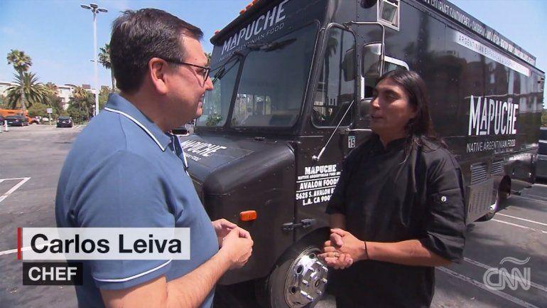 Carlos Leiva, el mapuche neuquino que triunfa en California con un food truck