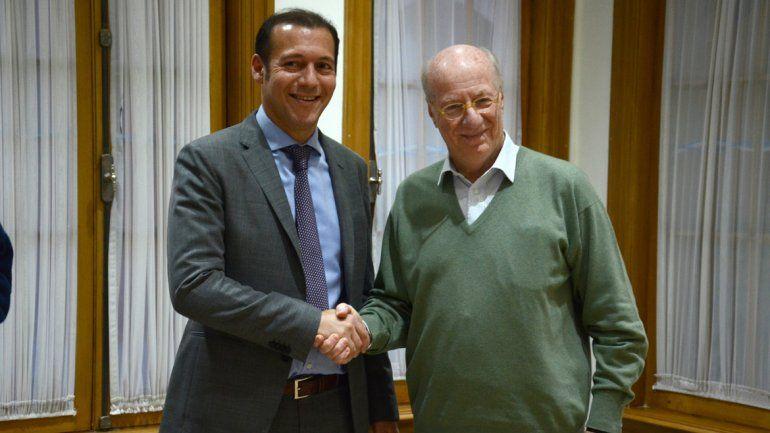 Gutiérrez estuvo ayer con Rocca en su despacho de la Casa de Gobierno.