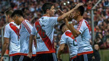 River avanzó en la Libertadores (foto) y en la Copa Argentina.