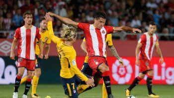 El Atlético de Simeone lo perdía por 2-0, pero con un golazo de Correa y otro del uruguayo Giménez, llegó a la igualdad ante el recién ascendido Girona.