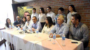 Zúñiga presentó ayer, junto al diputado Darío Martínez, su lista de unidad.