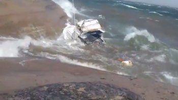 Así se llevaba el viento un barco en el Mari Menuco