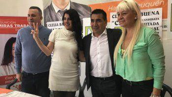 Ramón Rioseco y Clelia Balbuena, quien ya no pertenece al MPN.