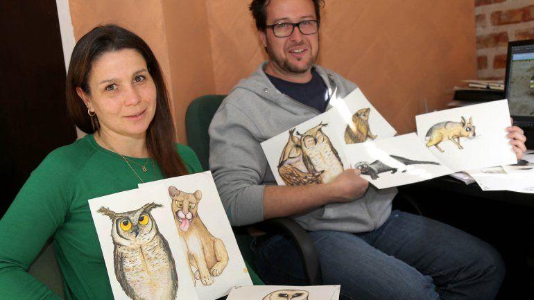 Victoria Bisheimer y Gustavo Lozano, con las ilustraciones originales.