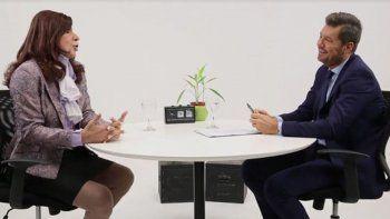 Tinelli entrevistó a una falsa Cristina Fernández