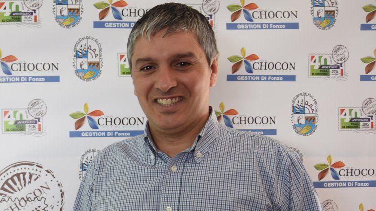 El intendente del Chocon, Nicolás Di Fonzo