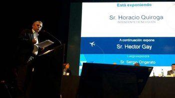 El intendente destacó la llegada de más servicios aéreos a la región.