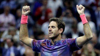 Imparable: Del Potro vivió otra noche de gloria y eliminó a Roger Federer en el US Open