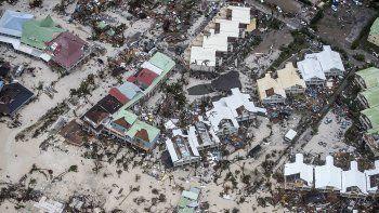 La isla de Saint Martin, una de las más afectadas por el huracán.
