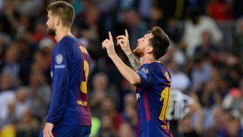 con un doblete de messi, barcelona vencio 3 a 0 a juventus