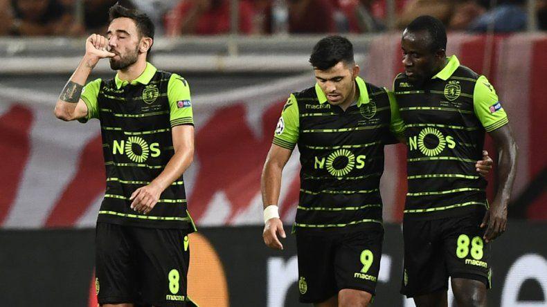 Con ayuda del Huevo, Sporting de Lisboa le ganó a Olympiacos de Grecia