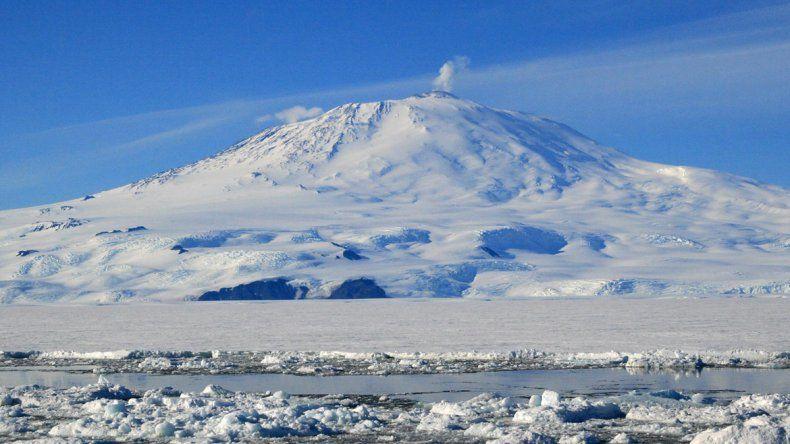 La investigación se llevó a cabo en el monte Erebus