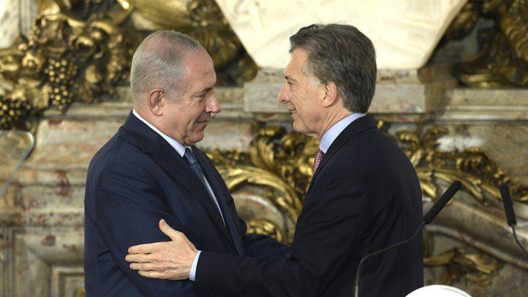 Mauricio Macri y Netanyahu se reunieron en la Casa Rosada.