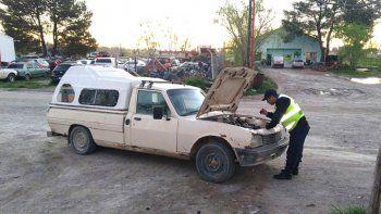 chichinales: secuestraron una camioneta robada en neuquen