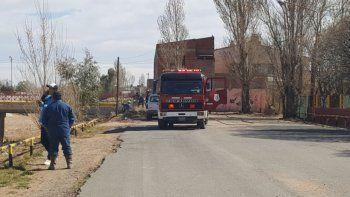 evacuaron una escuela por la rotura de un cano de gas