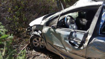 Un hombre resultó herido tras volcar sobre la Ruta 40