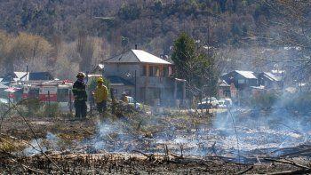 susto entre los vecinos por un incendio de pastizales