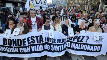 Hubo marchas por Julio López y un reclamo por Maldonado