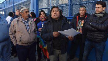 Jorge Nahuel, de la Confederación Mapuche, cuestionó al fiscal José Gerez.