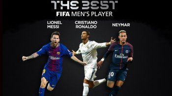 messi, cr7 y neymar van por el premio the best