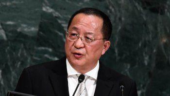 Lo aseguró ayer el ministro de Exteriores del régimen coreano.