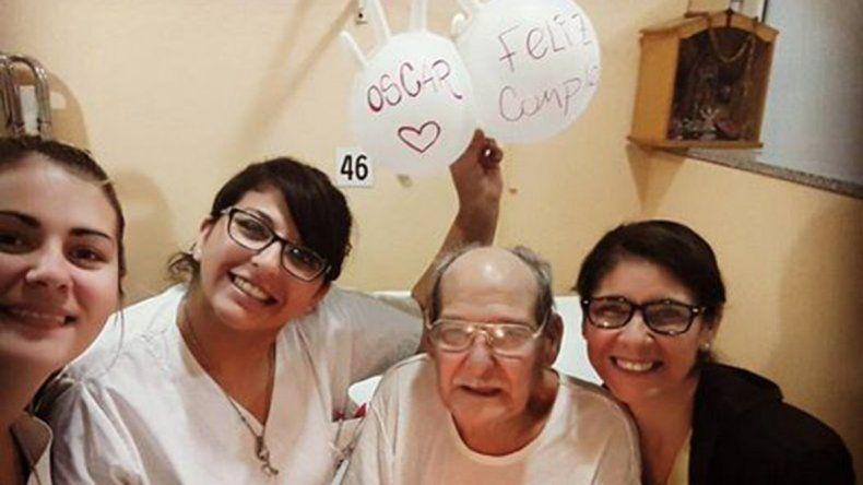Bahía Blanca: Oscar se internó para no festejar solo su cumpleaños y su historia se hizo viral