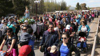 Una multitud peregrinó a la Virgen de Luján en Centenario